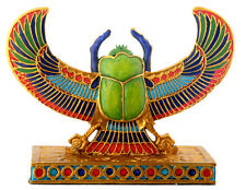 Egyptian Scarab.Golden Colorful Winged Figurine.Ancient Egypt Collectible 6205S