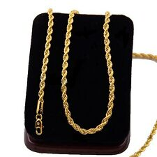 Mens/Women 18ct 'Gold Filled' Rope Chain/Necklace 3mm - 20 inch with Gift Pouch