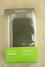 BLACKBERRY POCKET BLACK FAUX LEATHER CASE PROTECTIVE COVER NEW 9700 8520 8530
