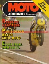 MOTO JOURNAL  440 HONDA CB 400 N SWM 125 TL Pierre Faucher ROUGERIE DAKAR 1980