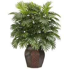 ARTIFICIAL FAKE PALM TREE PLANT REALISTIC IMITATION YARD INDOOR/OUTDOOR DECOR