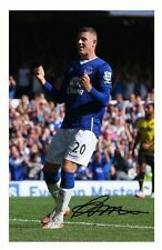 ROSS BARKLEY - EVERTON AUTOGRAPHED SIGNED A4 PP POSTER PHOTO