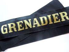GRENADIER WWII Marine Ruban légendé en soie bachi authentique cap tally France