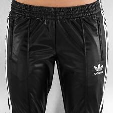 LARGE  adidas Originals  Women's  WET  look  SUPERGIRL TRACK PANTS  LAST 1 AVAIL