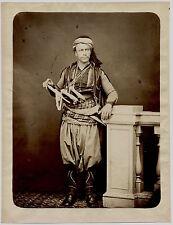 Photo Rubellin pere et fils - Guerrier Turc - Smyrne - Albumen - 1870 -