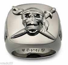 Swarovski Disney Skull and Sword Ring size 60 /9/XL