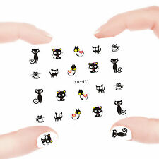 Nail Art Manicure Water Transfer Decal Sticker Lovely Cat YB411