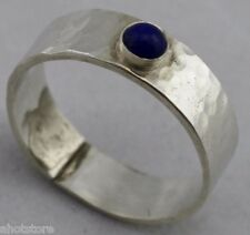 Lapis Lazuli Silver Ring Band size 9.5 approx