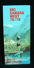 SKI CANADA WEST 1978/79 De West Tours Banff Lake Louise Canadian Pacific Railway