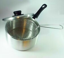 20cm Aluminium Frying Pan Basket Fryer Chips Fries Trendy Handle Value