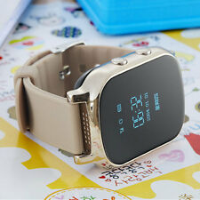 Smart Locating Wrist Watch T58 Kid GPS Bracelet for Android IOS iPhone Golden