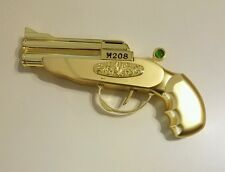 GOLD METAL DERRINGER GUN CIGARETTE TABLE GAS LIGHTER REFILLABLE BUTANE MODERN