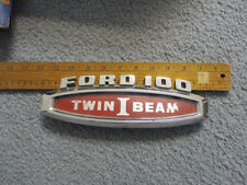 1965 ford pickup hood fender emblem  twin ibeam 1966