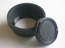 46MM SCREW ON COLLAPSIBLE RUBBER LENS HOOD WITH CAP