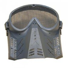 BLACK UNIVERSAL SOFT AIR TACTICAL MESH FACE MASK softair airsoft