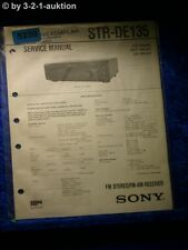 Sony Service Manual STR DE135 FM/AM Receiver (#5230)