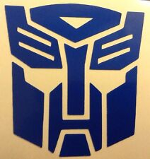 Blue Reflective Transformers Autobot Decal Sticker Helmet Tank Motorcycle 17-26