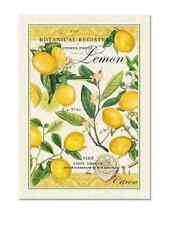 Lemon Woven Cotton Kitchen Towel by Michel Design Works