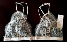 $158 Victorias Secret Designer Collection Chantilly Lace Silk Bralette Bra M