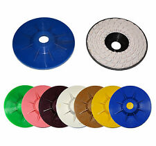 "4"" Dry / Wet Diamond Flat Polishing 7 Pad Full Set for Granite Marble Concrete"
