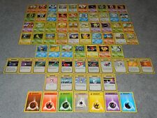 Pokemon Base Set 1 COMPLETE 70-Card UN-COMMON / COMMON Set - MINT Condition