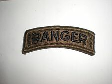 US ARMY RANGER TAB PATCH - SUBDUED BDU