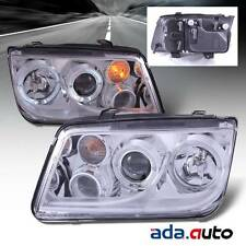 1999-2005 Volkswagen VW Jetta Bora Chrome [LED Halo] Projector Headlights