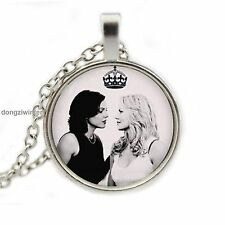 HotEmma Swan Queen Ship Photo Pendant Hook Necklace Once Upon a Time Regina Kiss