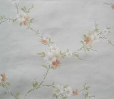YORK WHITE & PEACH FLOWERS on PASTEL BLUE/GREEN wallpaper DOUBLE ROLL