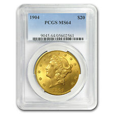 $20 Gold Liberty Double Eagle Coin - Random Year - MS-64 PCGS - SKU #10292