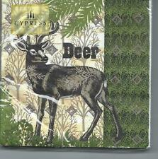 "Cypress Home Paper Napkins ~DEER ~ Christmas/Winter ""North Woods "" ~20 Beverage"