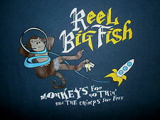 REEL BIG FISH CONCERT T SHIRT Monkeys For Nothin Chimps For Free Rocket Space SM