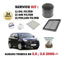 FOR SUBARU TRIBECA 3.0i B9 1/2005-  SERVICE SET OIL AIR POLLEN FILTER KIT