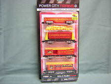 POWER CITY TRAINS 4 PACK-GOLD RUSH STEAM CARS with GOLD LOAD