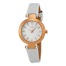 DKNY Stanhope White Dial White Leather Ladies Watch NY8835