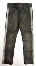 $1200 Double RL RRL Ralph Lauren Equestrian Riding Motorcycle Leather Pants 28 M
