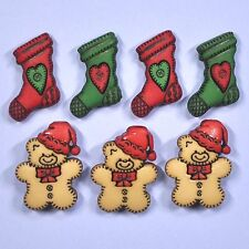 DRESS IT UP Buttons Stockings & Bears 2953 - Christmas - Embellishment - Xmas