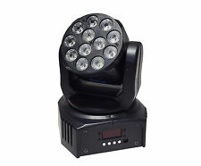 LED MOVING HEAD 12x3W RGBW LED MINI WASH MAE WH3 EFFECT CLUB PARTY