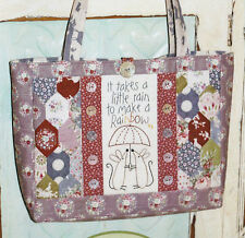 PATTERN - Rainbow Bag - EPP, stitchery & pieced bag  PATTERN - The Birdhouse