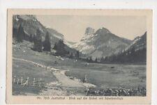 Justisthal Blick Auf Sichel Mit Scheibenfluh Switzerland Vintage Postcard 352b