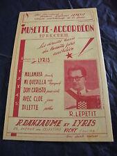 Partition 1er recueil musette accordéon de R. Lepetit