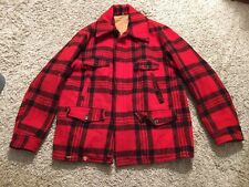Weather Wise All Virgin Wool Men's Red Checkered Hunting Jacket
