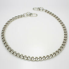"Handbag Purse metal chain strap Silver 10mm x 125cm(50"") shoulder crossbody"