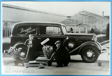 """12 By 18"""" Black & White Picture 1934 Chevrolet Rosedale Flower Delivery Sedan"""