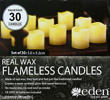 30 Pack x LED Flameless Real Wax Candle Set