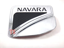 CHROME+BLACK FUEL CAP DOOR COVER FOR NISSAN FRONTIER NAVARA NP300 4DOOR 4WD 2015