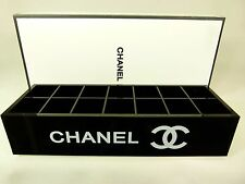 CHANEL VIP Black 14 Section Makeup Lipstick Organizer with Gift Box FREE SHIP