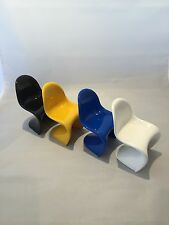 Vitra Design Panton Modern Miniature Chairs Collection Set of 4 Verner Panton