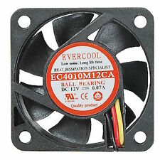 Evercool EC4010M12CA 40x40x10 mm Ball Bearing cooling fan 3-pin
