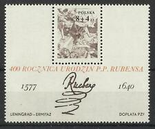 POLAND 1977 RUBENS MINI SHEET MINT